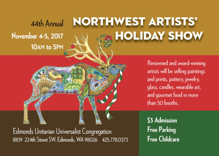 NW Artists' Holiday Show postcard