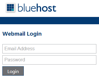BlueHost webmail login form